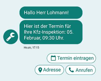 Chat mit Antwortoptionen - Kundensupport über den Chatbot