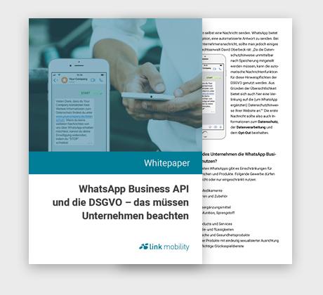 Whitepaper: WhatsApp Business API und die DSGVO – das müssen Unternehmen beachten