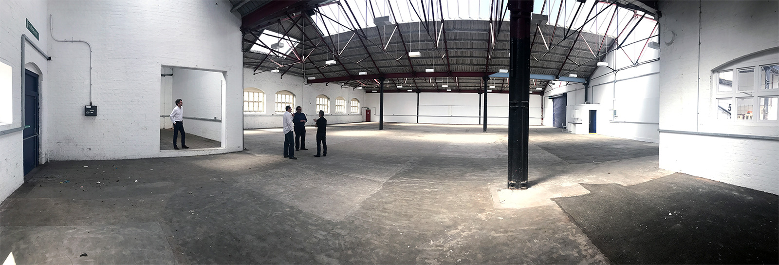 Empty carriage works shed ready for development