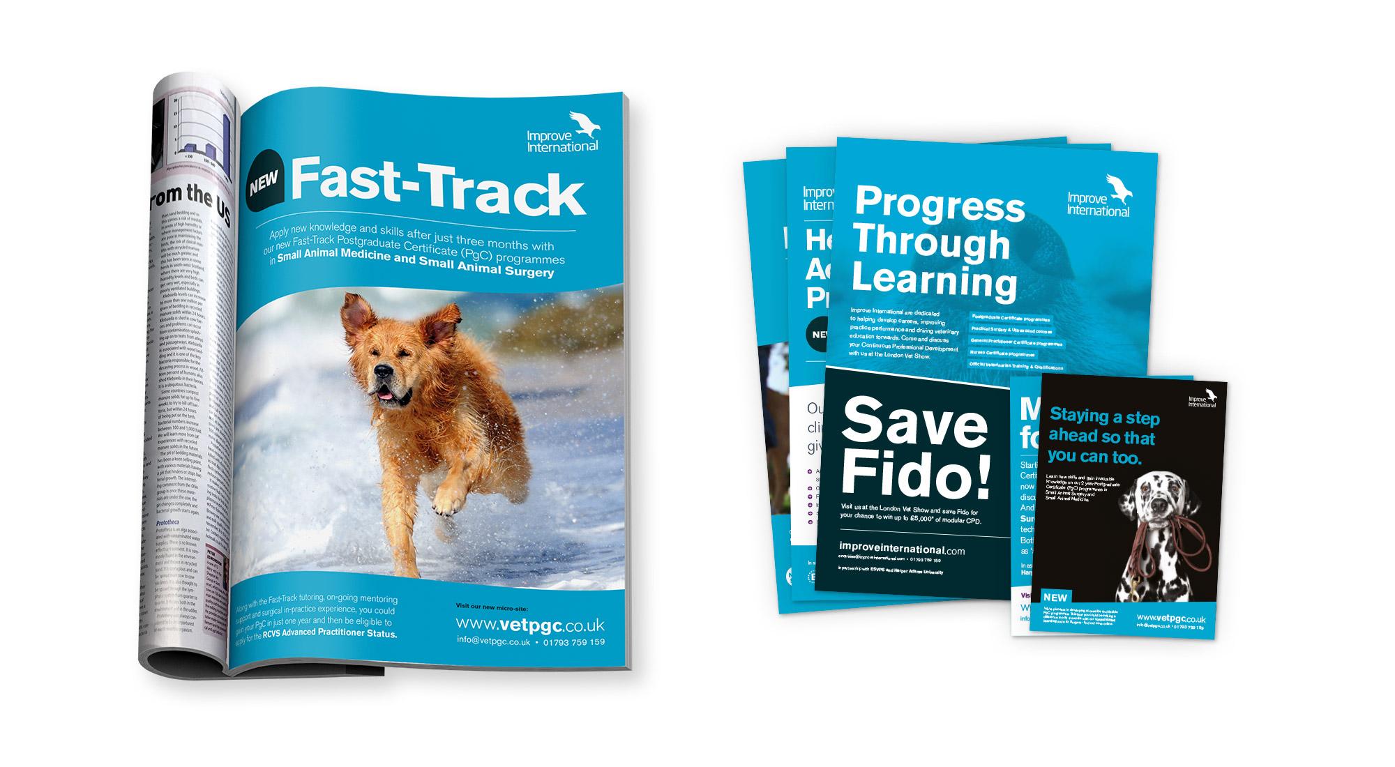 Advert design for veterinary media
