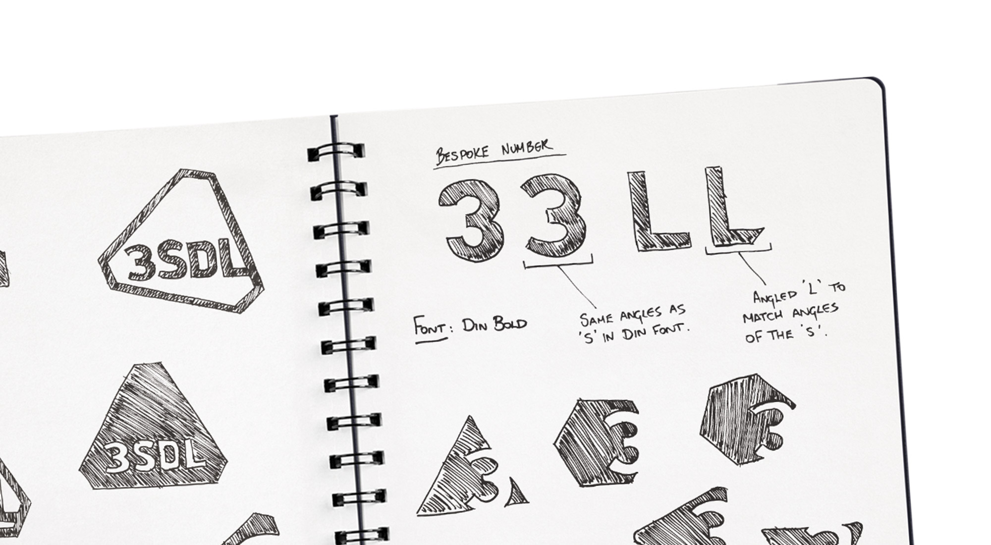 logo sketches for 3SDL