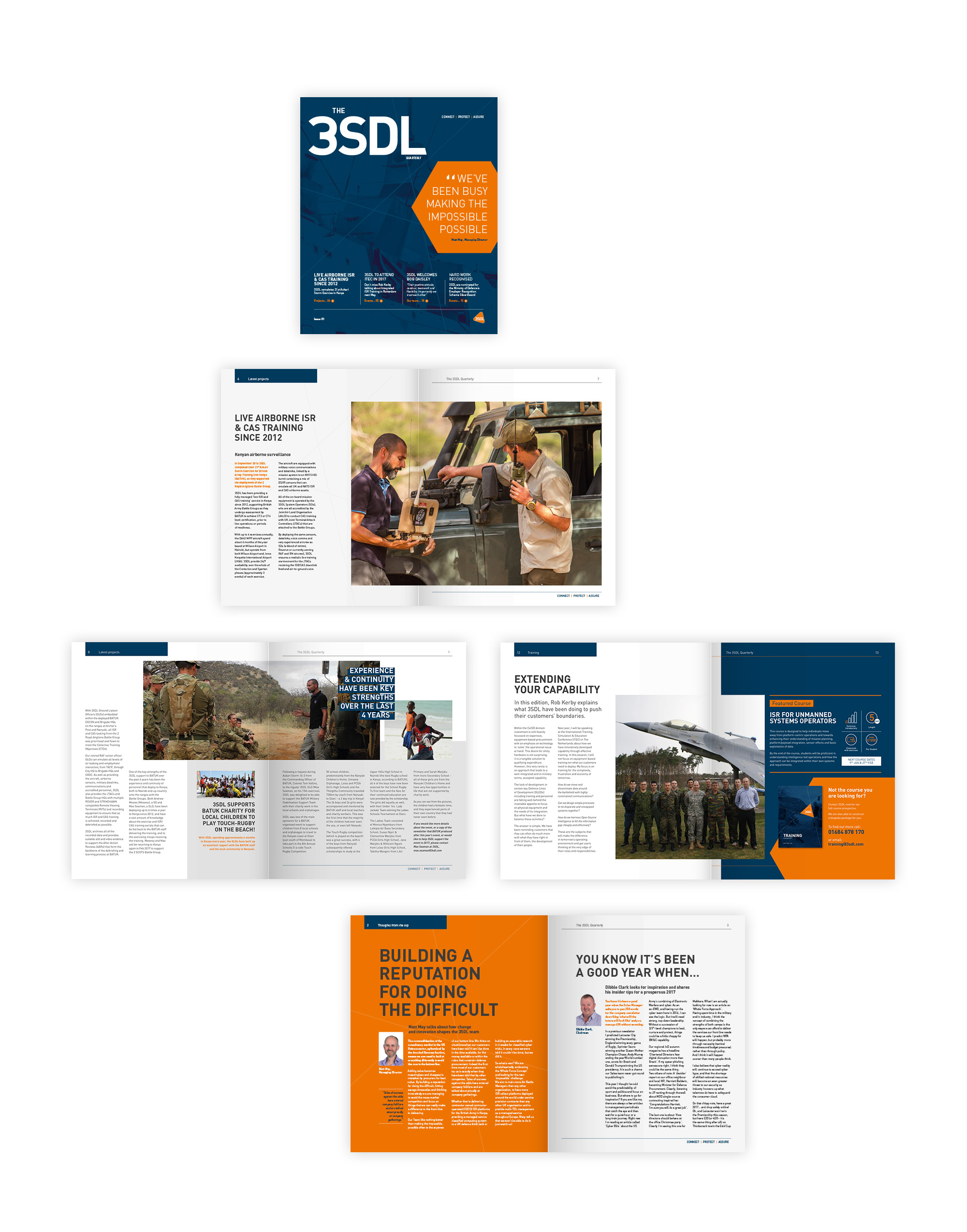 The 3SDL quarterly magazine and newsletter design