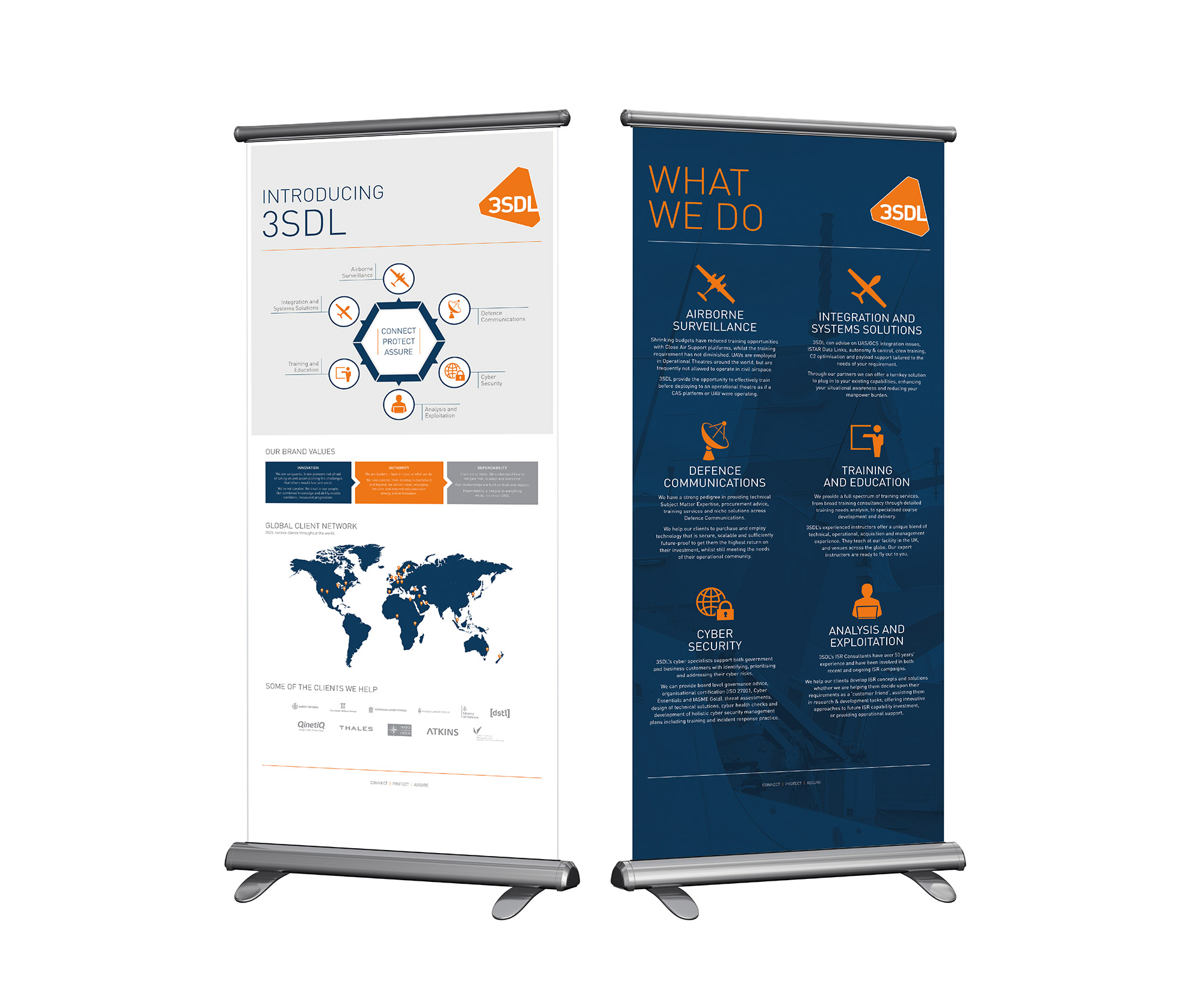 contemporary pull up banner design