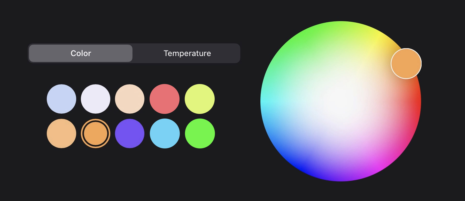 Color light selector