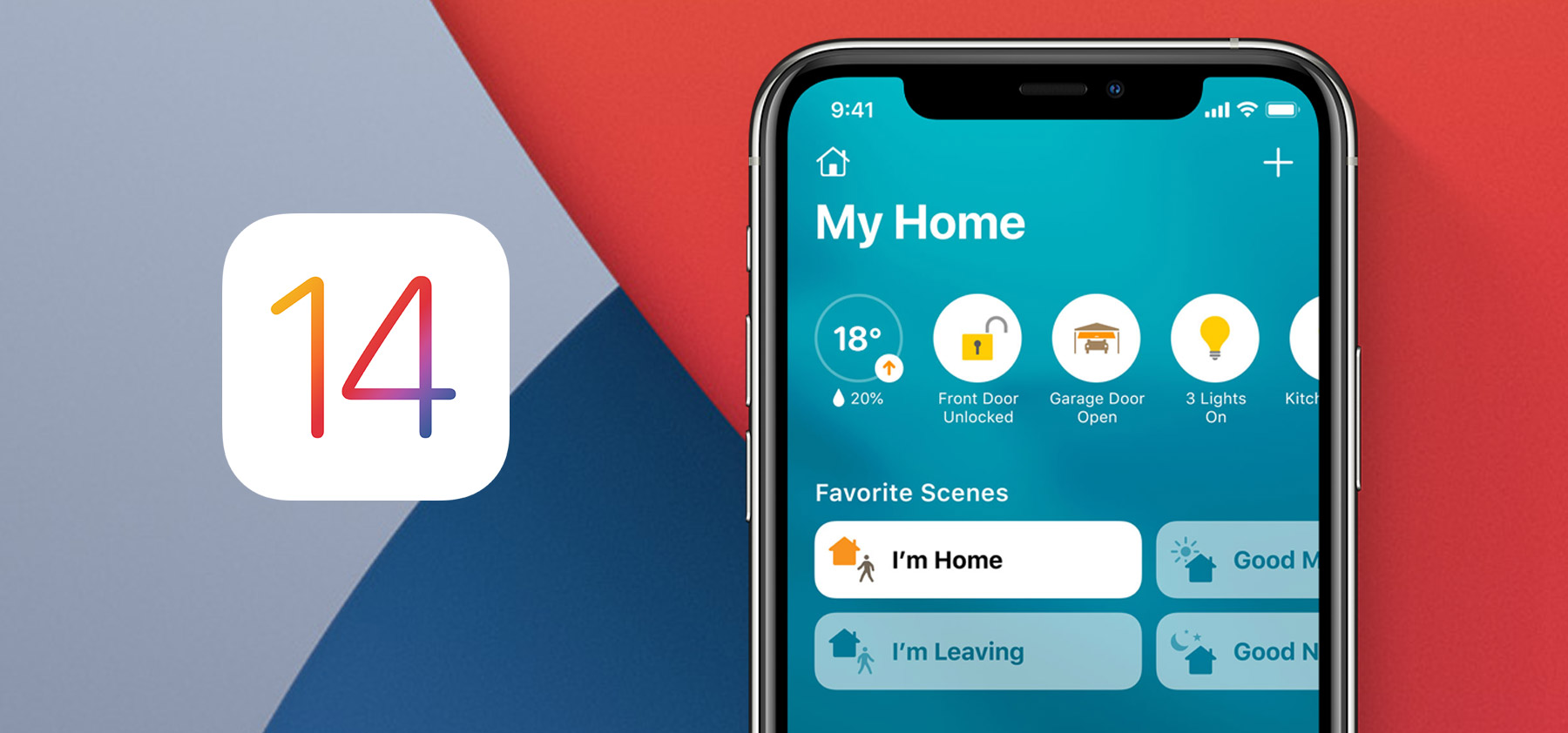 iOS 14 Home app on iPhone