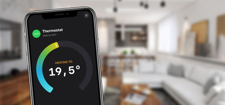 Thermostat app on iPhone