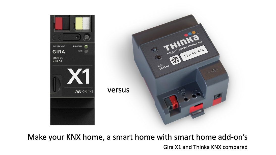 Comparison Gira X1 and Thinka KNX