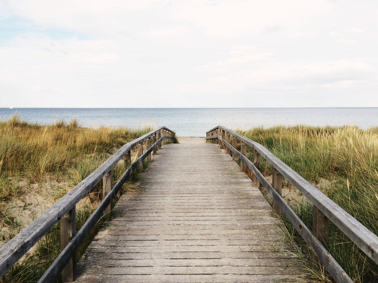 Walkway to the sea