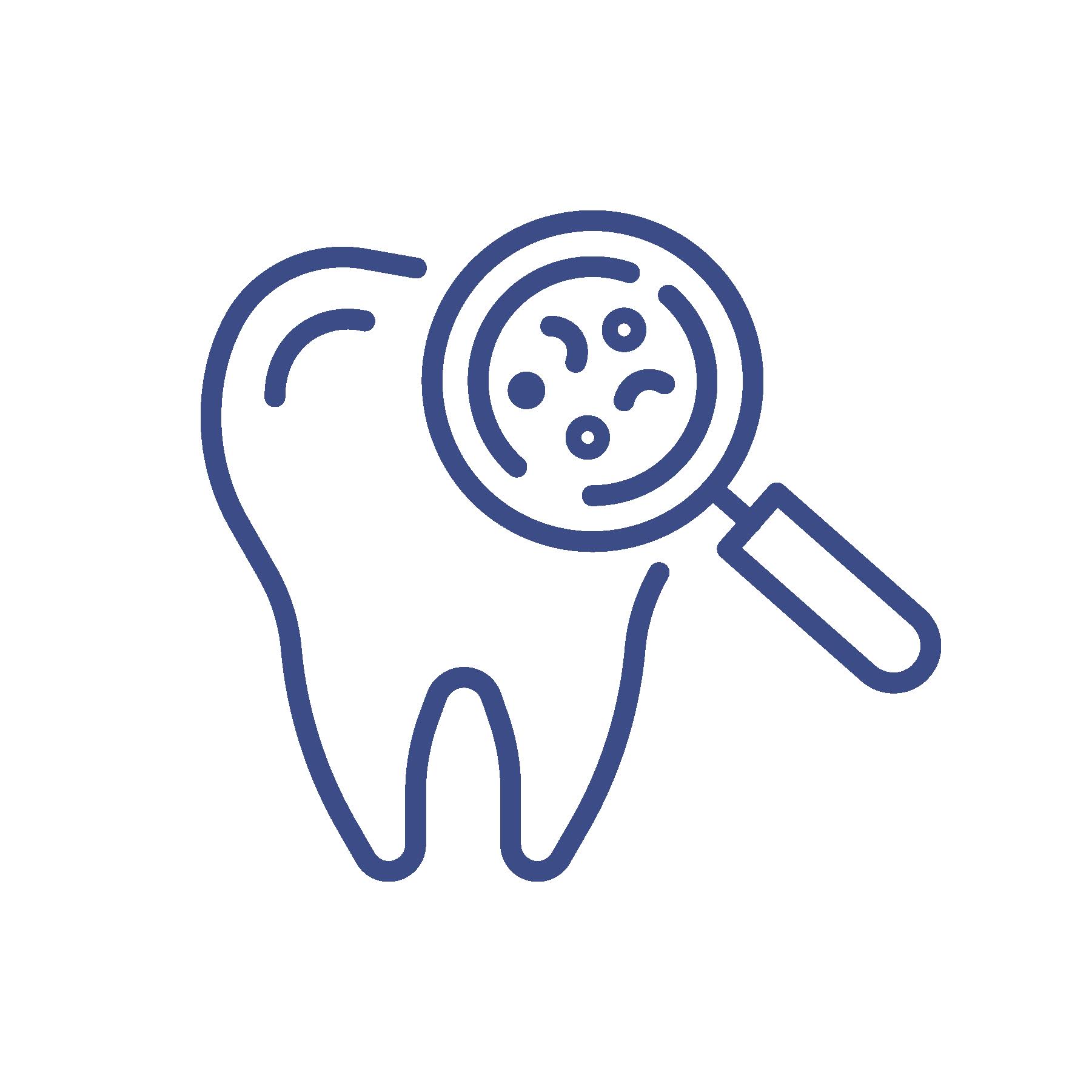 Dental exam icon