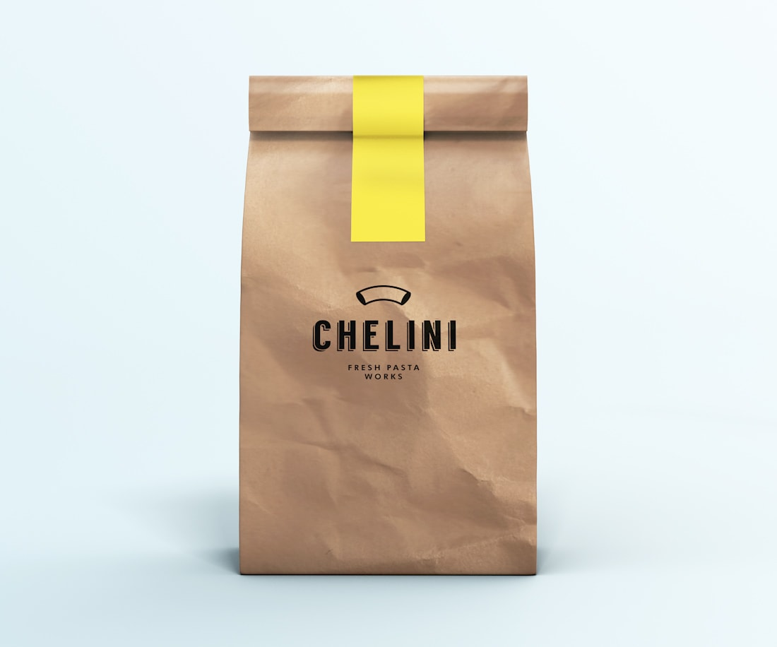 Branded craft bag for Chelini. © LET'S PANDA