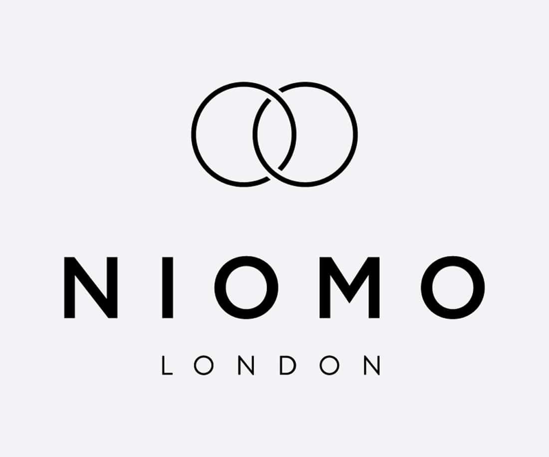 NIOMO timeless symbol visually conveys harmony, peace and stability. Their jewellery is made to last. © LET'S PANDA design studio