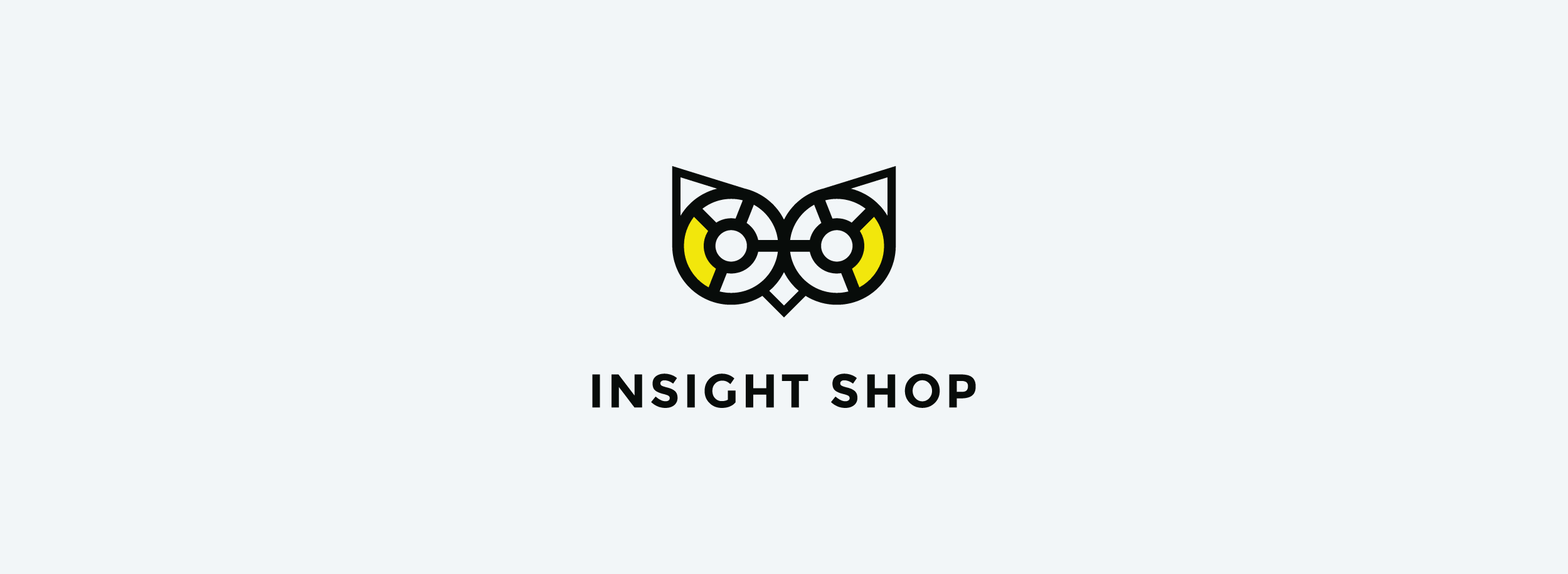 Insight Shop logo with an instantly recognizable owl symbol. © LET'S PANDA