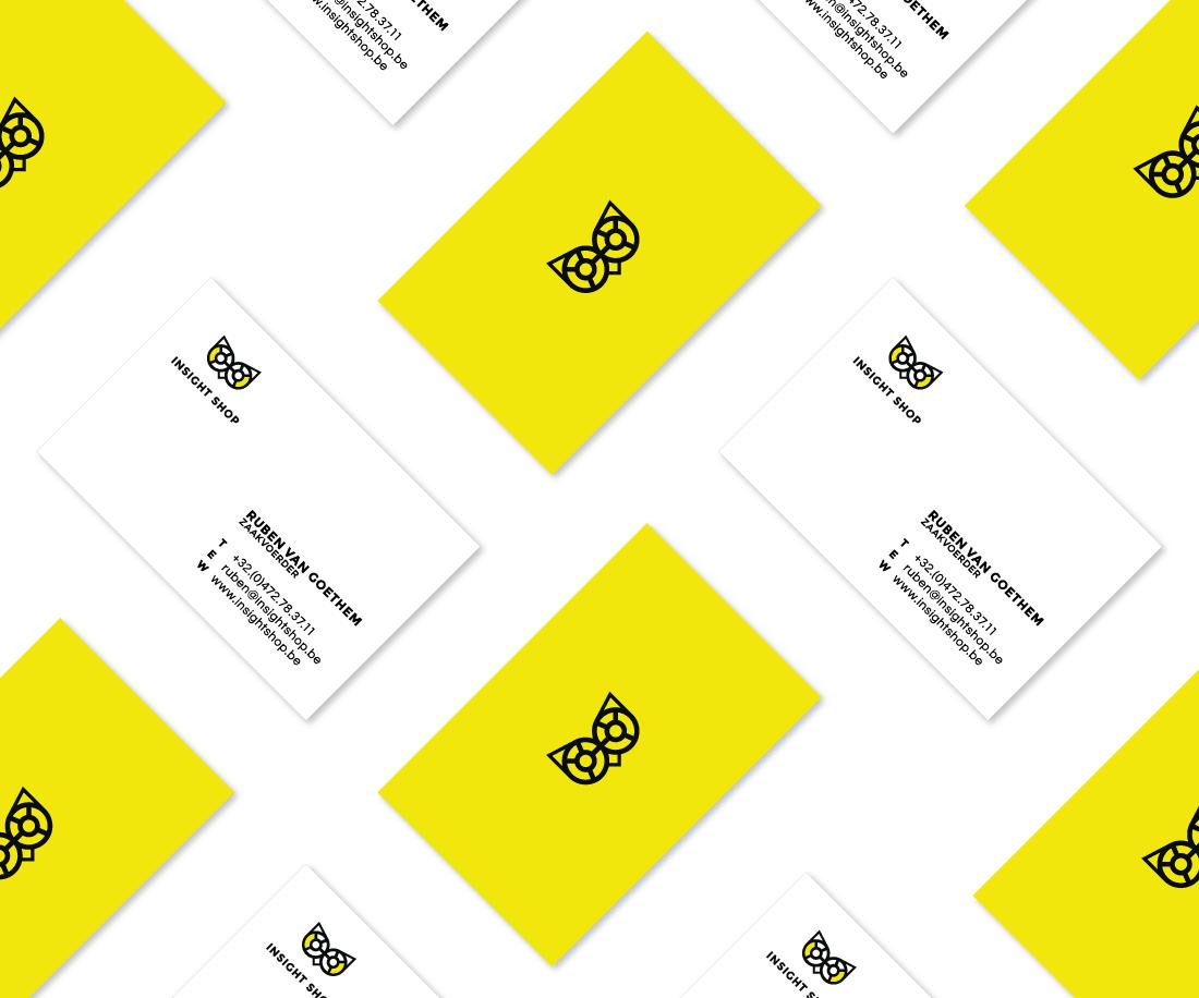 Striking business card design for Insight Shop. © LET'S PANDA
