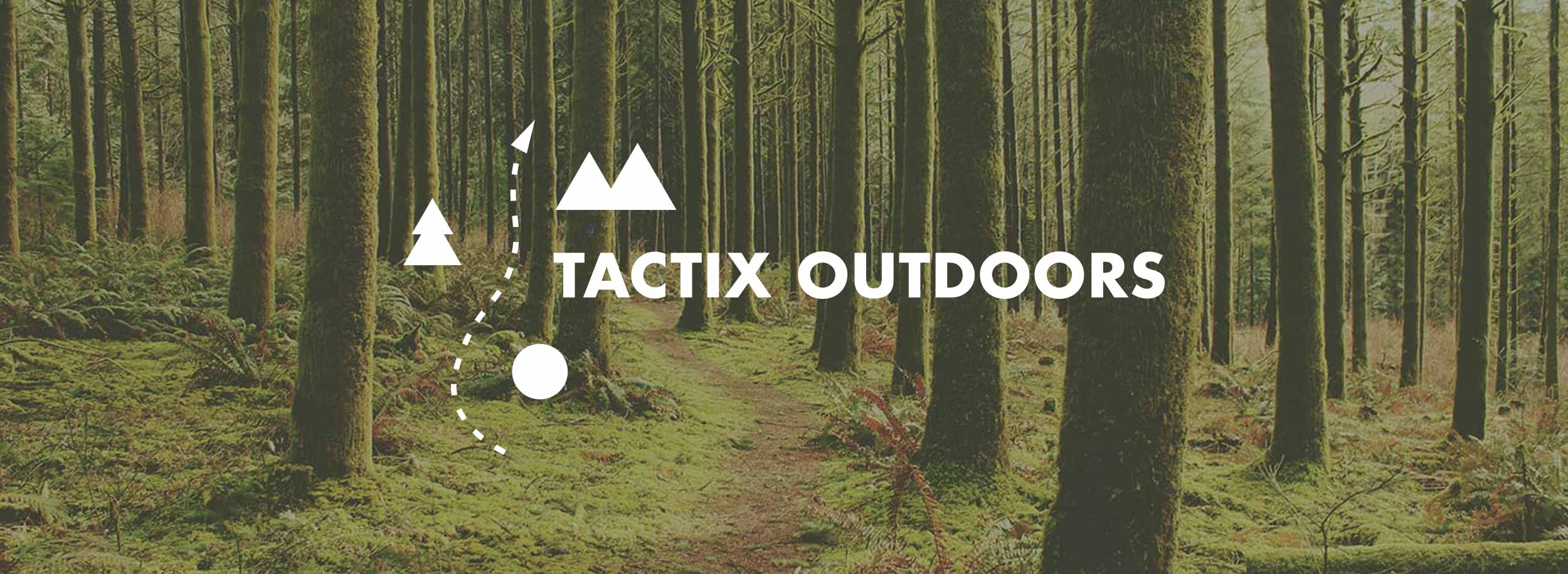 Geometric minimalist logo perfectly communicates the main focus of Tactix Outdoors brand: it's all about tactics and survival. © LET'S PANDA