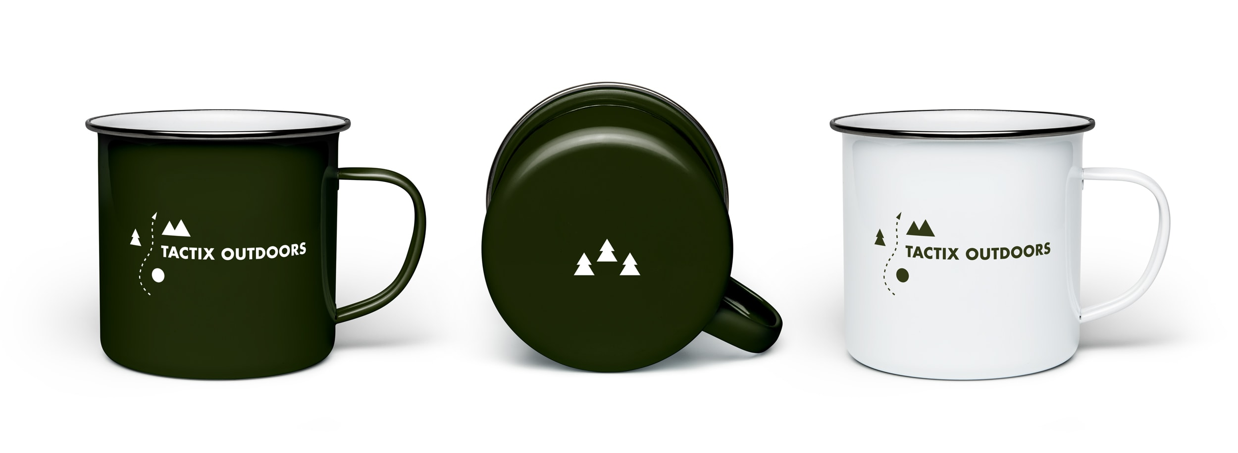 Enamel travel and camping mug for Tactix Outdoors