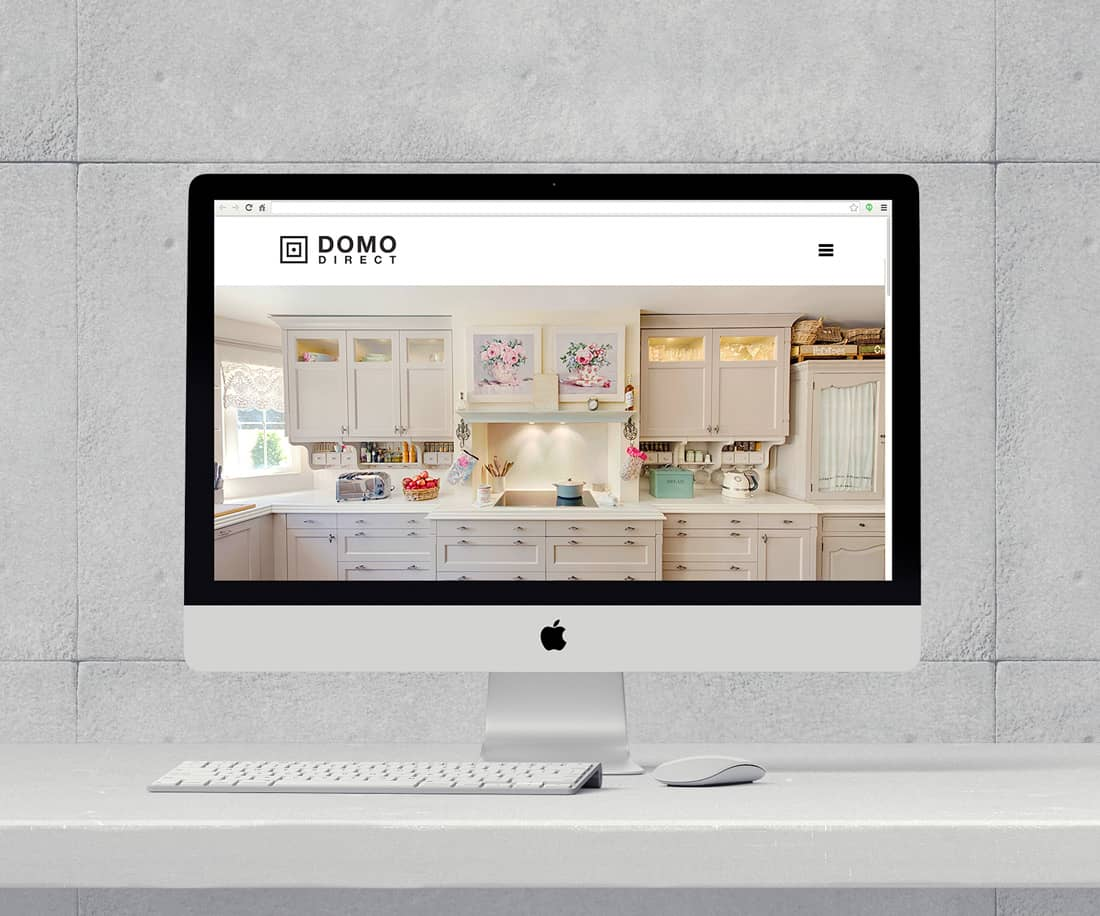 Domo Direct clean and minimalist furniture website