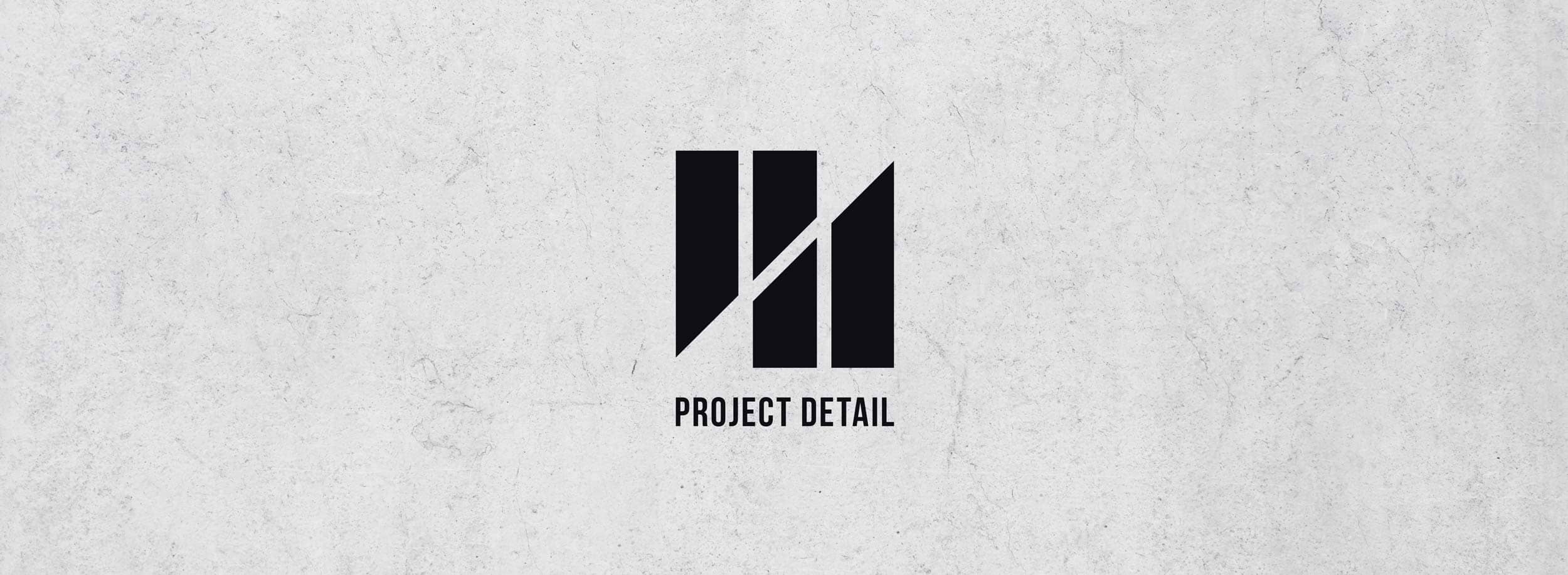Very clean and energetic logo for Project Detail. © LET'S PANDA