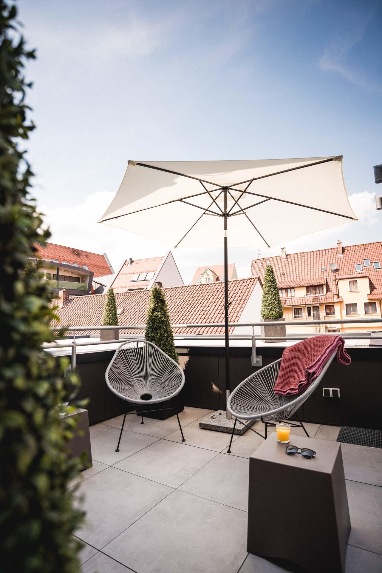 Ulmer Münster Hotel Balkon und Terrasse