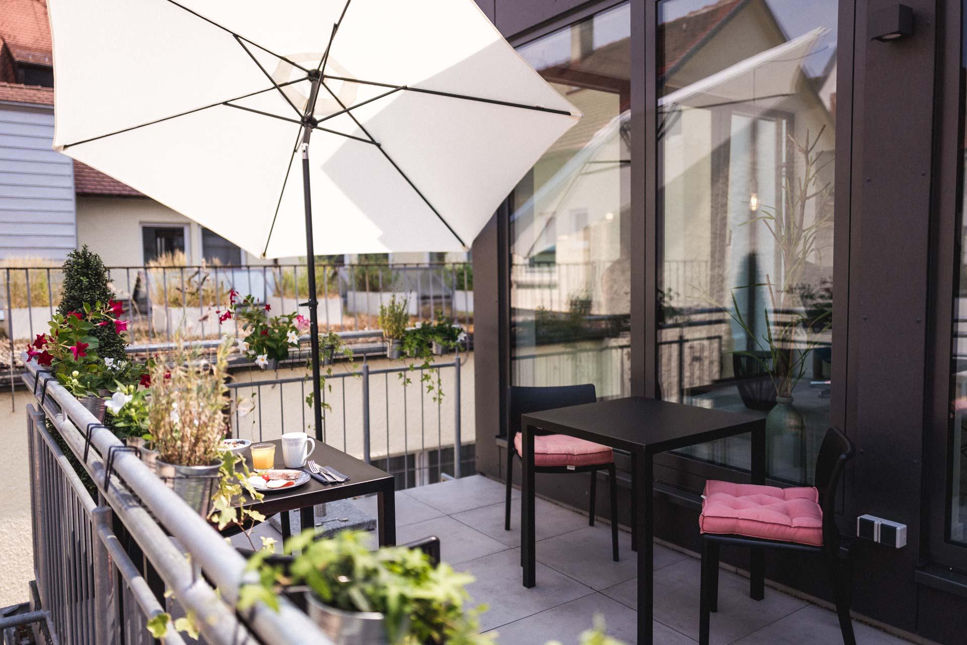 Ulmer Münster Hotel Terrasse