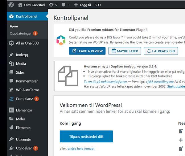 Nyttig å vite om Wordpress