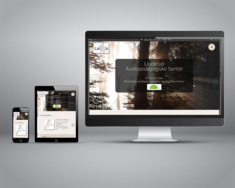 Bilde av nettside på pc, nettbrett og mobil