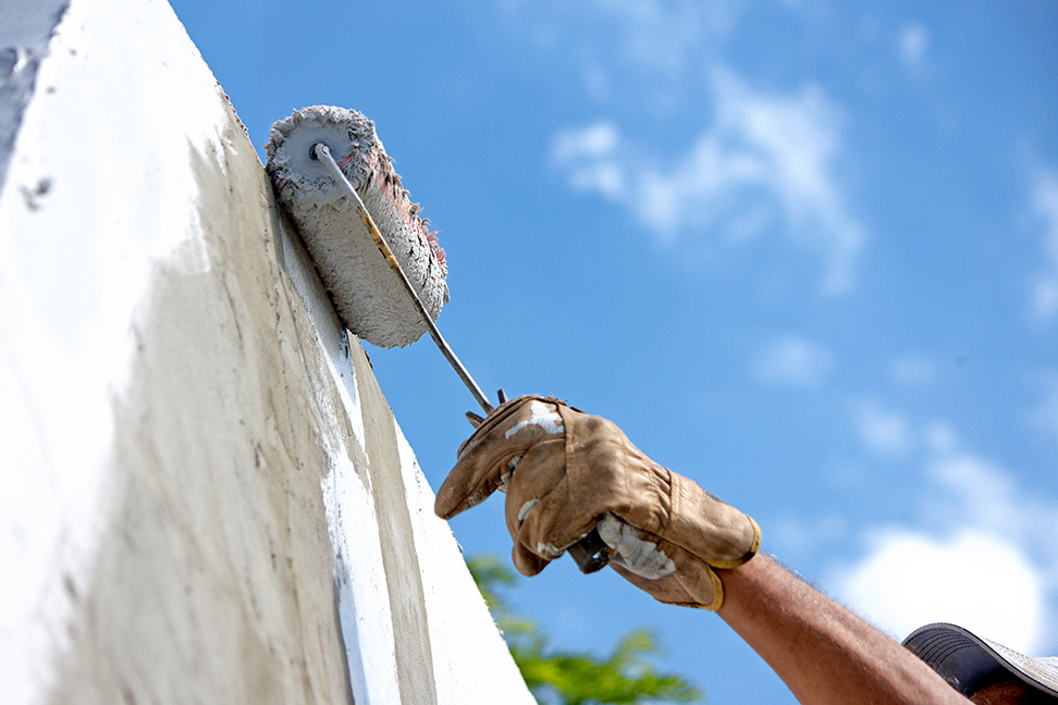 Stucco painting image