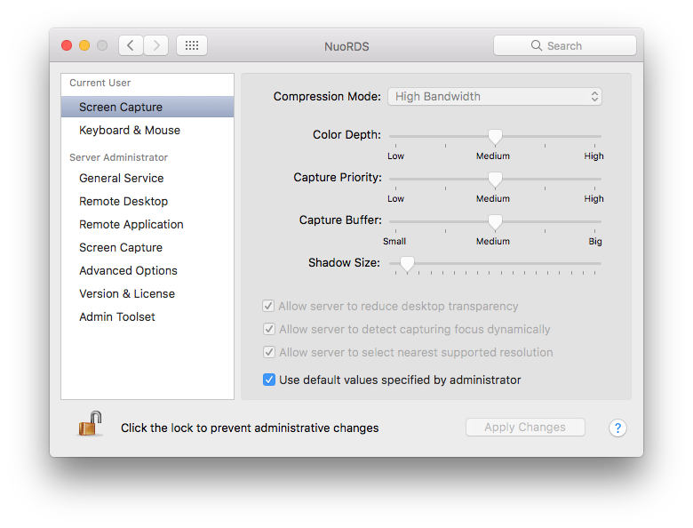 NuoRDS is a scalable terminal server for Mac