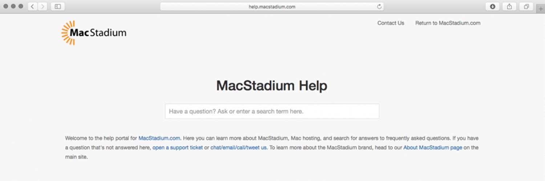 MacStadium Help Site