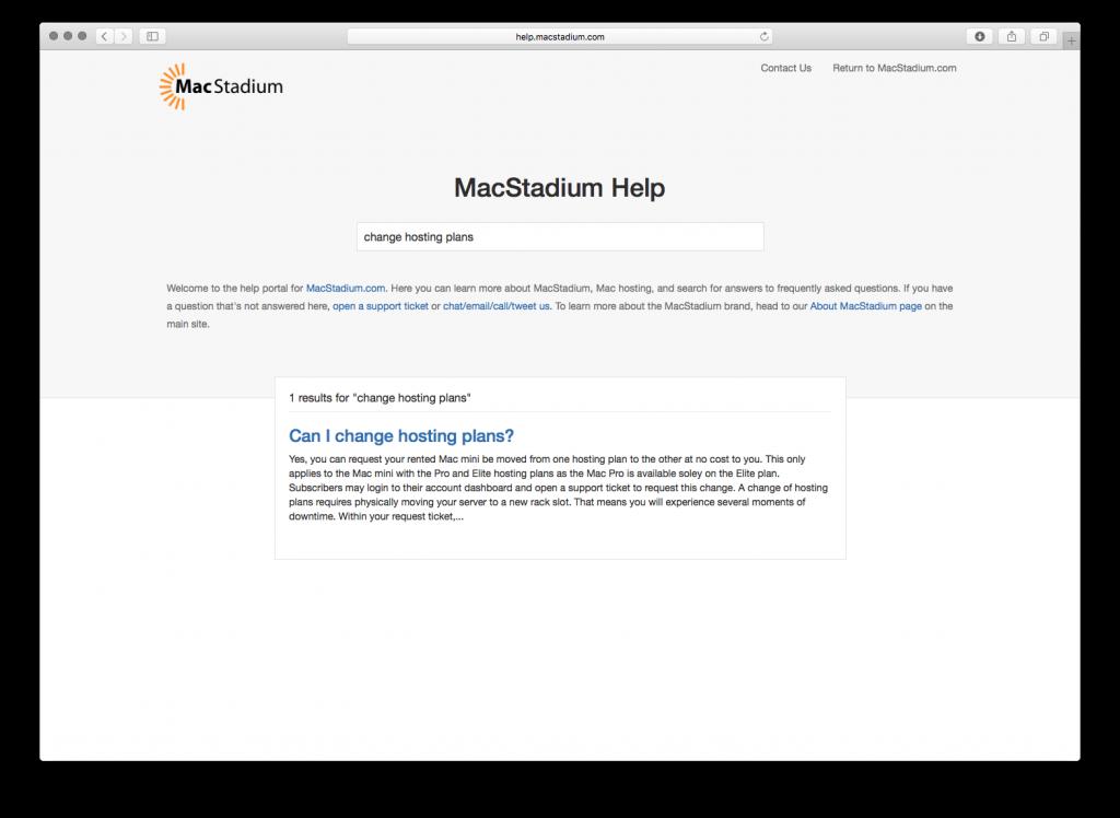 MacStadium Help Portal