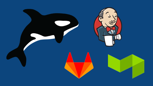 Orka logo with Jenkins, Gitlab and BuildKite logos