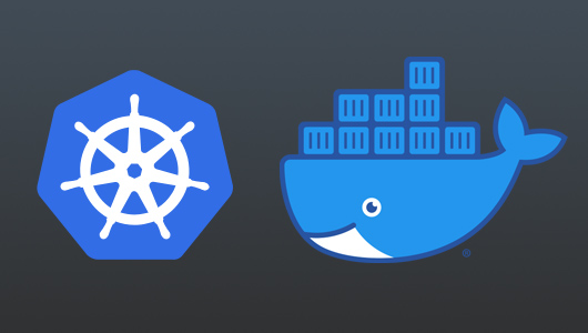 Kubernetes and Docker logos
