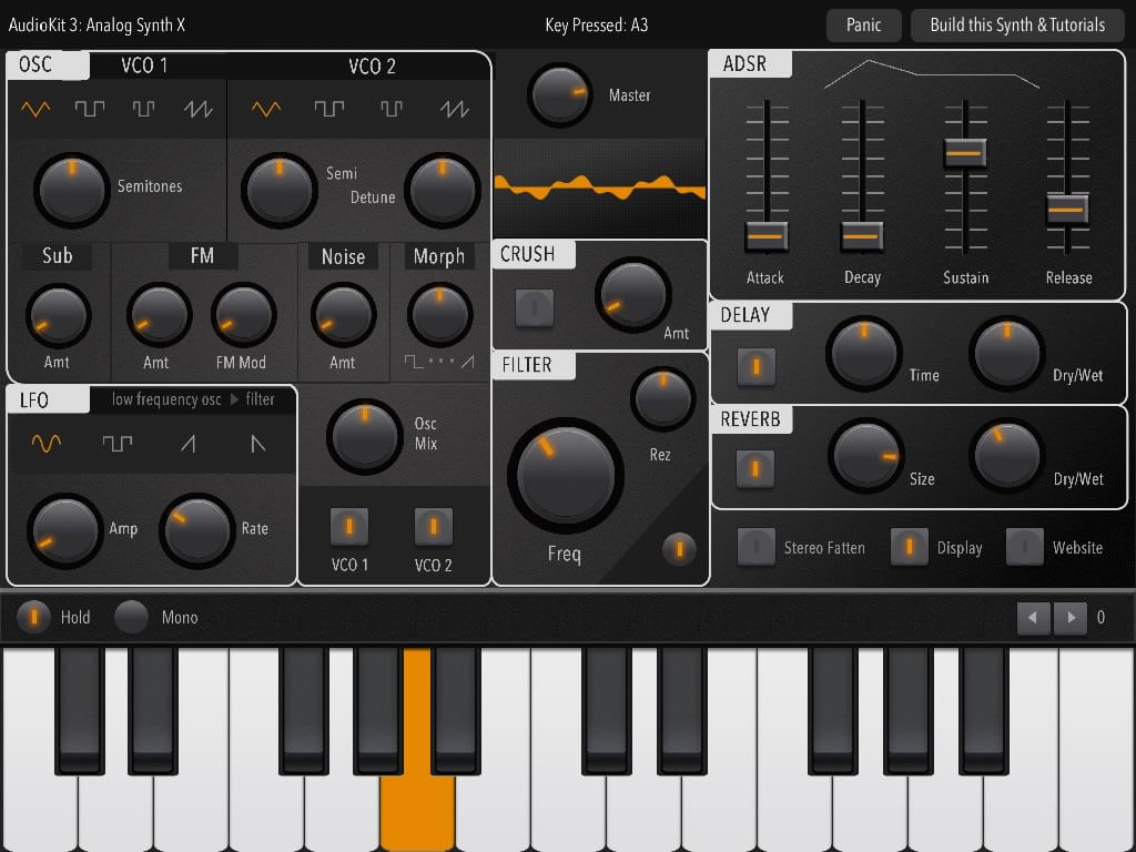 Audio Synthesizer built with AudioKit