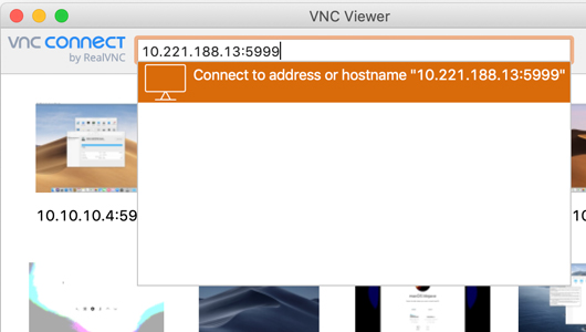 Connecting to a Mac VM with VNC