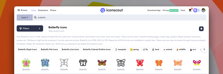 Iconscout screenshot