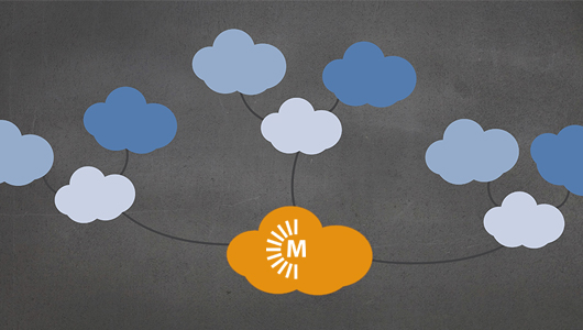 Illustration of MacStadium cloud connecting to other clouds