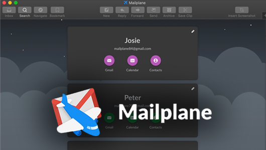 Screenshot of Mailplane app with logo