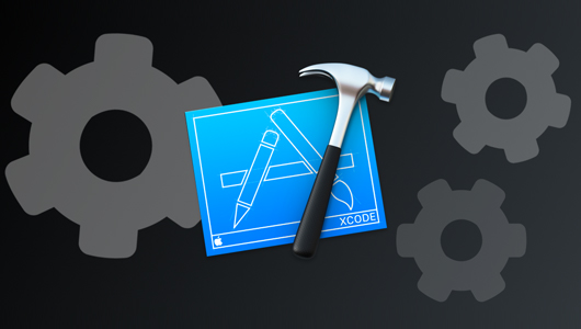 Xcode logo with cogs