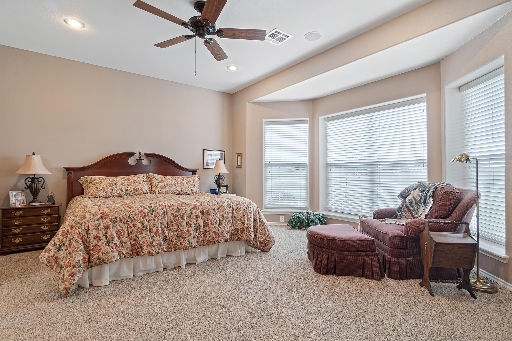 Tailwind hangar home master bedroom