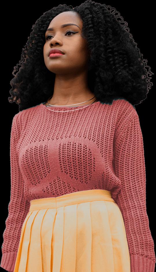 Classy black woman