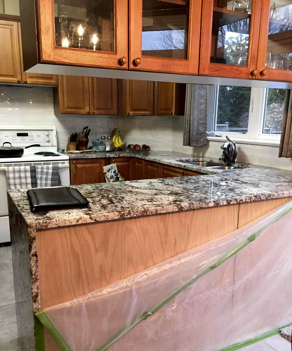 Wood kitchen cabinets repaired in Ottawa On