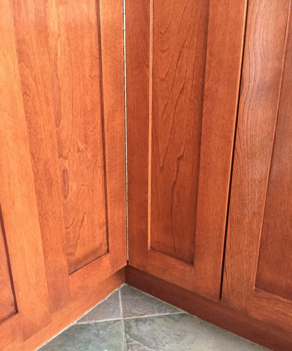 Wooden kitchen cabinet refinished in Ottawa On