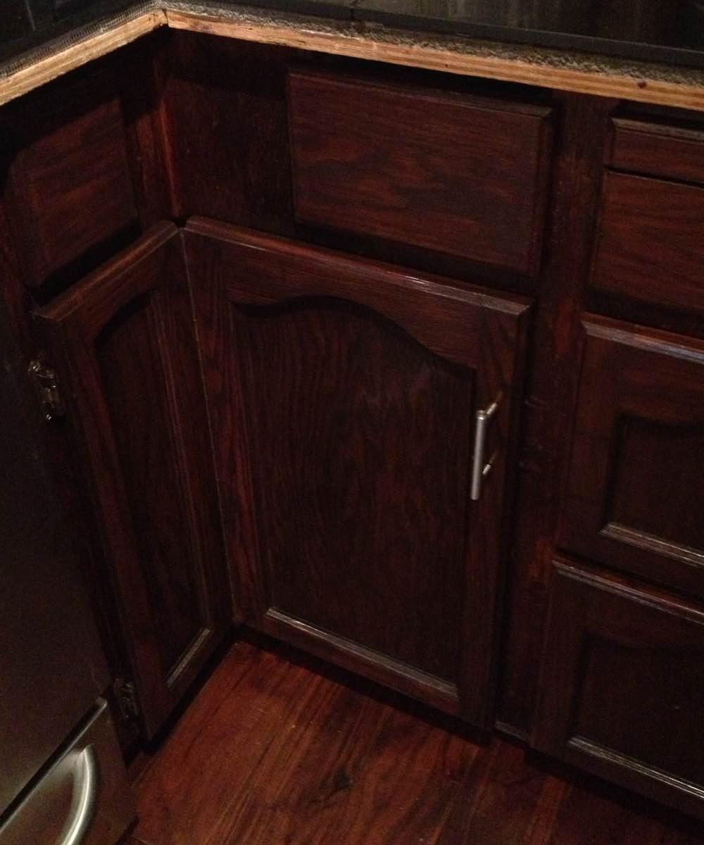 Wood cabinet restored in Ottawa On