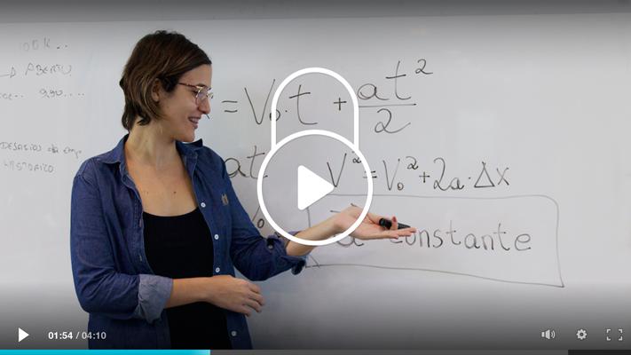 imagem de uma aula em vídeo com um cadeado
