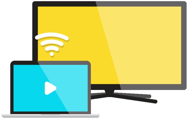 ícone de chromecast e smart TV