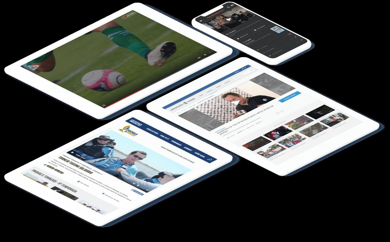 imagem de vídeos com qualidade em tablets e celular