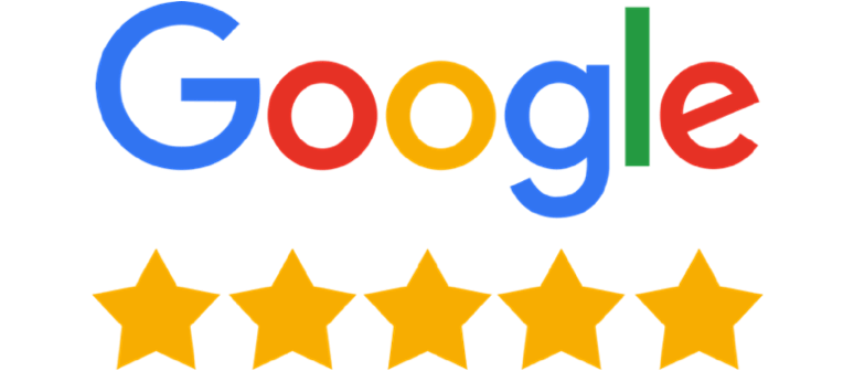 5 star reviews from Google