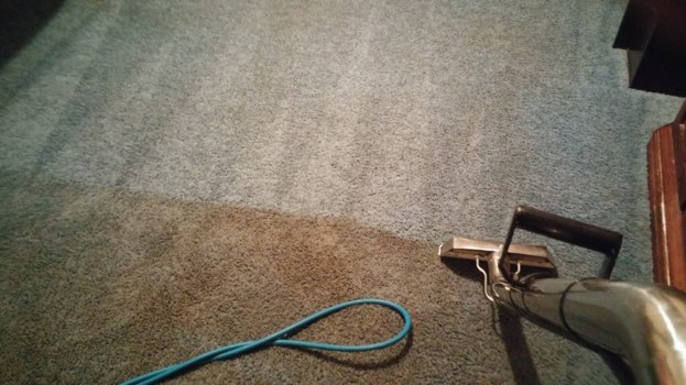 Carpet after being cleaned in Meadville PA