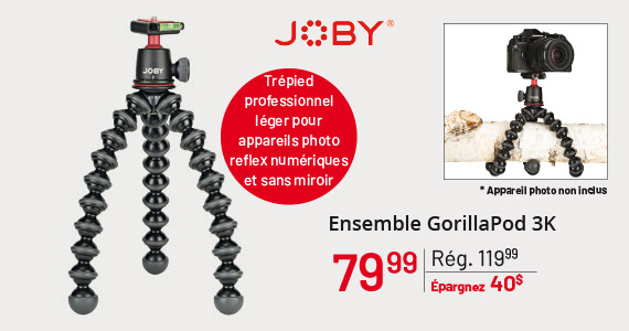 Joby Ensemble GorillaPod 3K