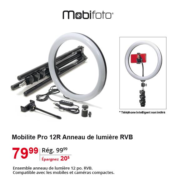 Mobilte Pro 12R RGB Anneau de lumiere RVB