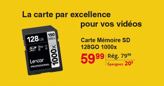 Lexar 128 GB 1000xSD Carte Memoire